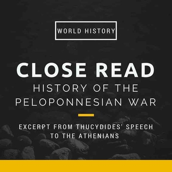 """Close Read for """"History of the Peloponnesian War"""""""