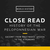 "Close Read for ""History of the Peloponnesian War"""