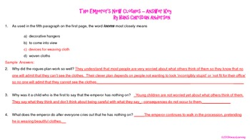 Close Read in Fourth and Fifth Grade: The Emperor's New Clothes