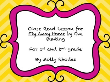 Close Read of Fly Away Home by Eve Bunting