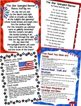 """Close Read of """"The Star-Spangled Banner"""" with Common Core Standards"""