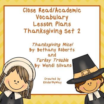 Thanksgiving Close Read Lesson Plans