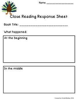Thanksgiving Day Close Read Lesson Plans