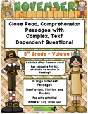 November 5th (V. 1) Common Core Close Read with Complex Te