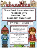 December 3rd  Common Core Close Read Comprehension w/ Text Dependent Complex Qu.