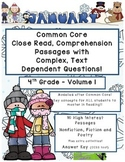 January 4th - Common Core Close Read with Text Dependent Complex Questions