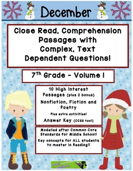 December 7th (V1) Common Core Close Read with Text Depende