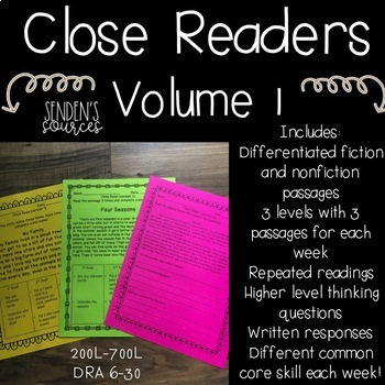 Close Readers Differentiated