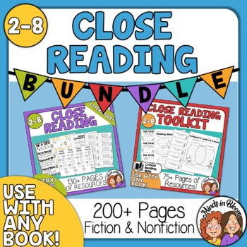 Close Reading Toolkit Bundle for Informational Text and Literature