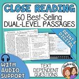 Close Reading Passages | Reading Comprehension Passages |
