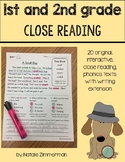 Close Reading 1st and 2nd Grade Comprehension Passages