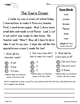 Close Reading 1st, 2nd, 3rd Grade Comprehension Passages