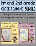 Close Reading 1st, 2nd, 3rd Grade Comprehension Passages ***BUNDLE***