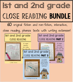 Close Reading 1st and 2nd Grade Comprehension Passages ***