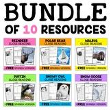 Close Reading Passages - Arctic Animal Bundle