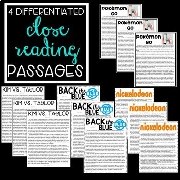 Reading Comprehension Passages and Questions for the Year Bundle