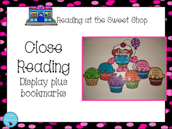 Close Reading Bookmarks and Display