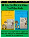 Close Reading 2nd Grade Non Fiction Comprehension Passages BUNDLE