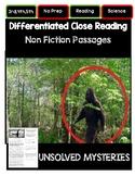 Close Reading 3rd, 4th, 5th Grade Non Fiction Passages: Un