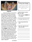 Close Reading 3rd, 4th, 5th, 6th Grade Non Fiction Passages: Vampire Bat