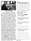 Close Reading 4th, 5th, 6th Non Fiction Reading Passages: Martin Luther King Jr.