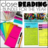 Close Reading Comprehension Passages, Questions, Posters, & Anchor Chart Bundle