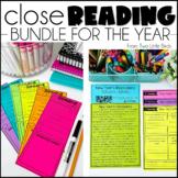 Close Reading Comprehension Passages, Questions, Posters, & Anchor Chart Bundle