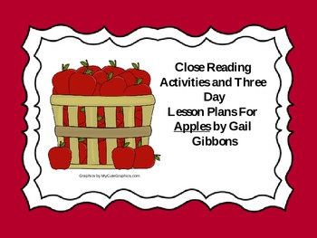Close Reading Activities for Apples by Gail Gibbons