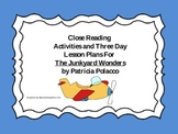 Close Reading Activities for The Junkyard Wonders by Patricia Polacco