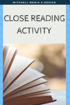 Close Reading Activity