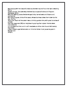 close reading activity for the odyssey book calypso tpt close reading activity for the odyssey book 5 calypso