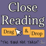 The Road Not Taken Close Reading Activity for American Literature