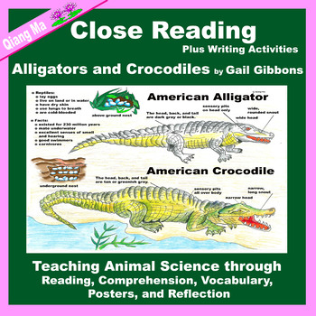 Close Reading: Alligators and Crocodiles by Gail Gibbons