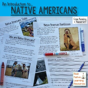 Close Reading: An Intro to Native Americans Reading Passages