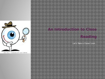 Close Reading : An Introduction for Students