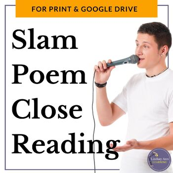 Slam Poetry Close Reading Analysis Questions for Middle School and High School
