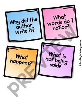 Close Reading Poster (Reading Anchor Chart)