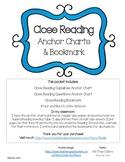 Close Reading Anchor Charts & Bookmark