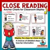 Close Reading Anchor Charts - [Reading Instruction]