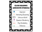 Close Reading Anecdote Symbols
