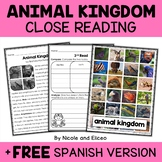 Animal Kingdom Close Reading Passage Activities
