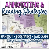 Annotating and Close Reading Strategies Handout, Bookmarks
