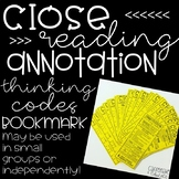 Close Reading & Annotation Student Bookmarks