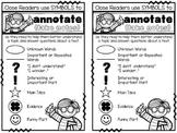 Close Reading Annotation Symbols