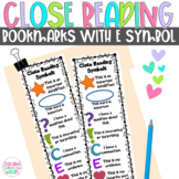 Close Reading Symbols Bookmarks, ANY Book, Summer, End of