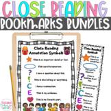 Close Reading Symbols Charts & Bookmarks BUNDLE, Winter & Christmas Reading