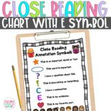 Close Reading Symbol Charts, Fiction & Nonfiction, ANY Topic, Christmas, Winter