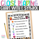 Close Reading Symbol Charts, Fiction & Nonfiction, ANY Topic, Back to School