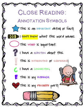 Close Reading Annotations