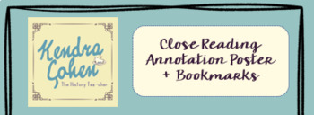 Close Reading Annotations Poster + Printable Bookmarks! ELA + Social Studies